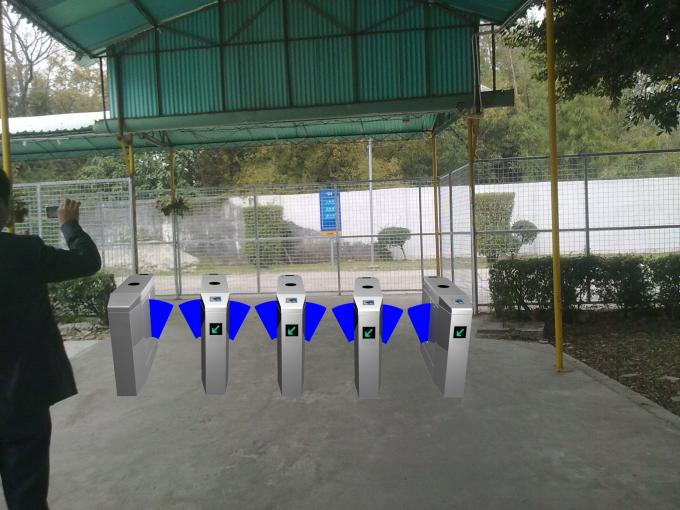 Outdoor Smart Speed  Flap Barrier Turnstile Normally Open Mode With LED Indicator