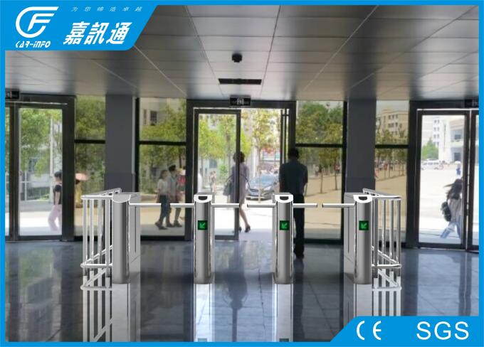 Access Control System One Way Gate , Rfid Card Single Waist Height Turnstil