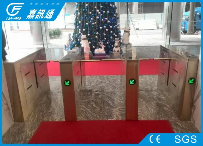 Mechanica One Way Drop Arm Turnstile Self - Examine And Alarm Anti - Pinch Function