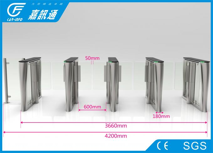 retractable swing barrier High speed  gate access control system