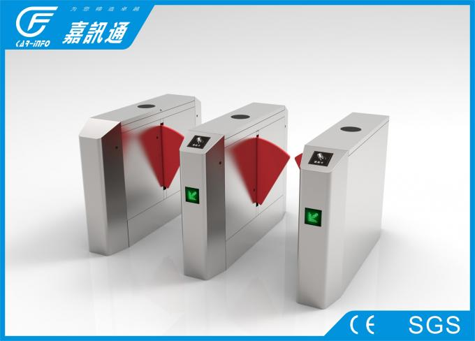 Card Reader Electronic Flap Barrier Turnstile Intelligent Remote Control For Factory