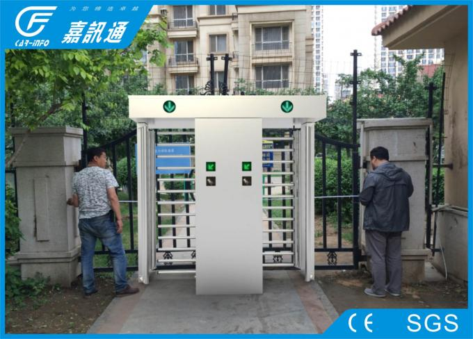 Automatic IP54 Full Height Turnstile QR Code Card Reader Security Access RS485 Communication