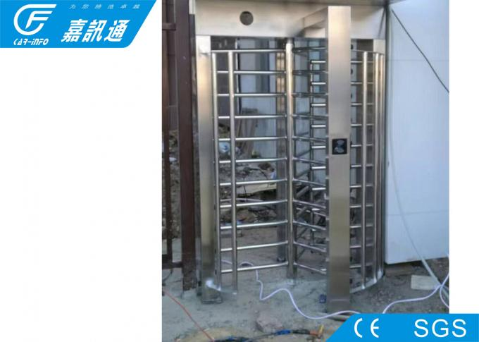 Outdoor Access Control Full Height Turnstile 40persons / Min With Remote Control