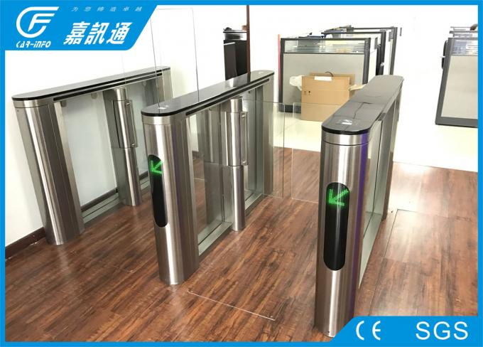 Indoor Fingerprint Reader Swing Gate Turnstile , Automatic Pedestrian Barrier Gate