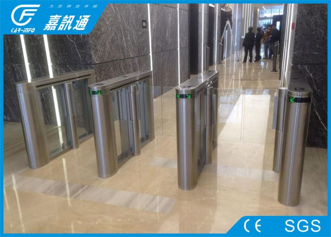 Stainless Steel Speed Turnstile Barcode Scanner , RFID Reader Turnstile Security Systems