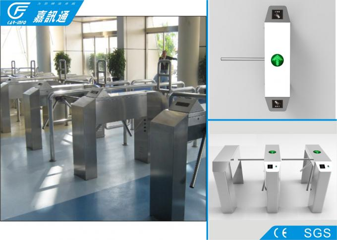 Office Tripod Half Height Turnstile , Security Door Access Drop Arm Turnstiles
