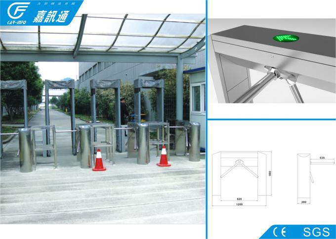 Full Automatic Turnstile Gate With Card Reader , Durable Access Control Turnstile Gate