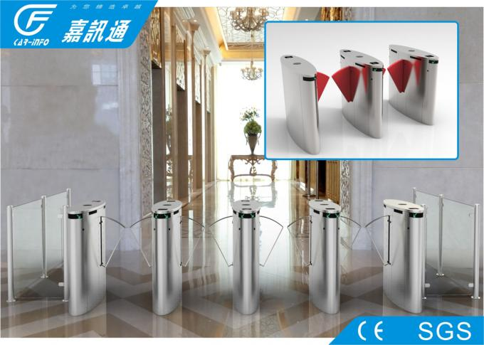Acrylic Glass Retractable Barrier Gate , Stadium Turnstile Gate With Card Reader