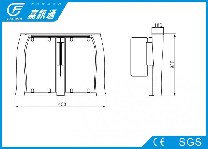 Remote Control Electronic Turnstile Gates AC220V 50HZ For Commercial Building