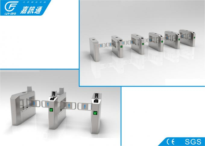 Double Safe Industrial Turnstile For Factory , React Quickly Single Turnstile