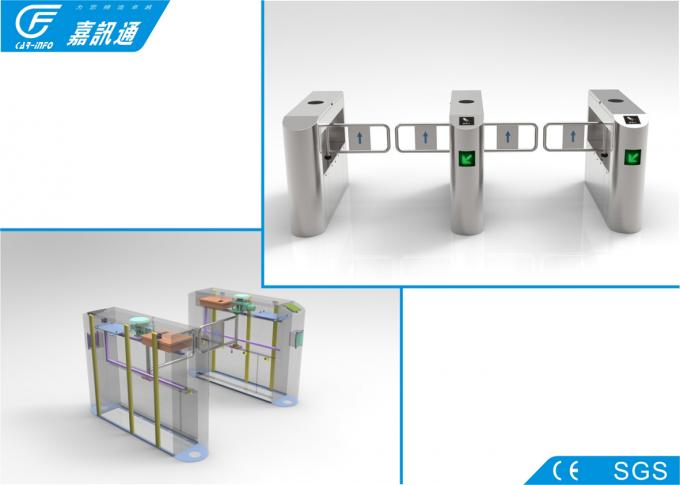 Biometric Entrance Gate Security Systems , Durable Turnstile Barrier Gate
