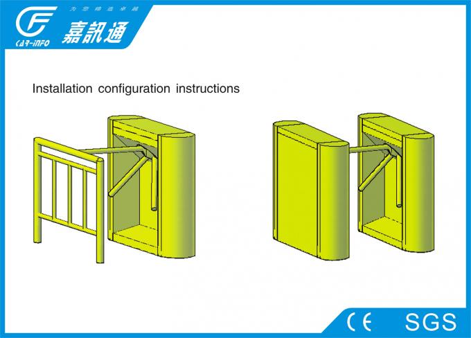 Factroy Entrance Pedestrian Security Gate , Residence Area Waist Height Turnstile
