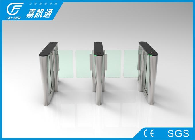 Entrance Security Turnstile Access Control System , Glass Speedgate Swing Gate Turnstile