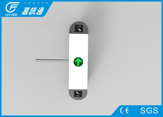 Staff Entrance Arm Stainless Steel Turnstiles Remote Light Indicators Smooth Rotation