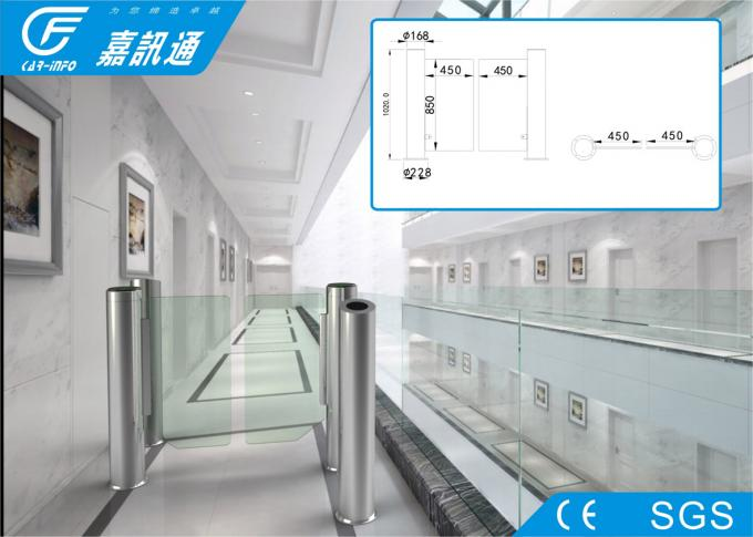 RFID / NFC Swing Turnstile Entry Systems , 140W / 24V Office Security Gates