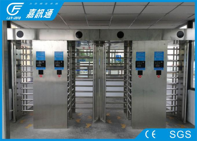 Security Stainless Steel Full height Turnstiles Gates Ticketing System Control