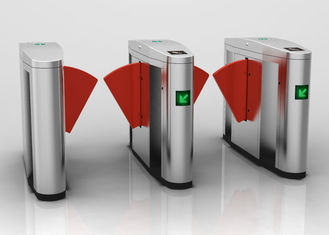 China Outdoor Smart Speed  Flap Barrier Turnstile Normally Open Mode With LED Indicator supplier