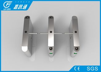 China Access Control System One Way Gate , Rfid Card Single Waist Height Turnstil supplier