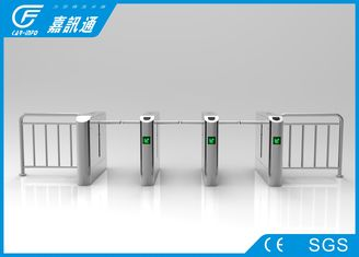China Mechanica One Way Drop Arm Turnstile Self - Examine And Alarm Anti - Pinch Function supplier