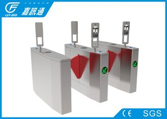 China Retractable soft red wings flap turnstile with face reconition reader for access control system supplier
