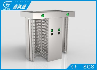 China Stadium Double Lane Access Control One Way Gate , Mechanical Full Body Turnstile supplier