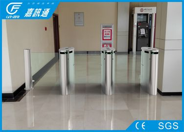 China Indoor Smart Speed  Half Height Turnstile Fault Detection With Led Indicator Light For Bank supplier