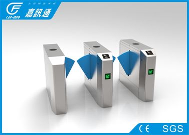 China Fingerprinted High Speed Flap Barrier Turnstile For School Access Control supplier