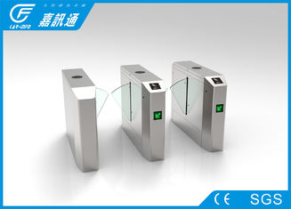 China Card Reader Electronic Flap Barrier Turnstile Intelligent Remote Control For Factory supplier