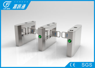 China Fire Alarm Security Entrance Turnstile Gates Emegency Access Controlled Arm Swing Barrier supplier