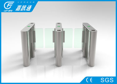China access control system gate card reader flap turnstile for gym for residential entrance supplier