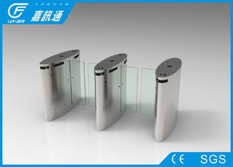 China Acrylic Glass Door Swing Gate Turnstile  , Waist High Turnstile 3 Million Cycles Life Span supplier