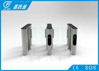 China Indoor Fingerprint Reader Swing Gate Turnstile , Automatic Pedestrian Barrier Gate supplier