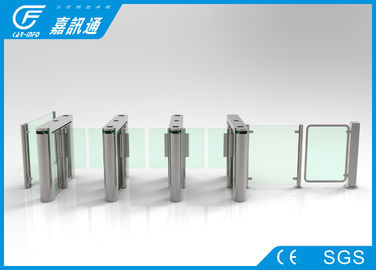 China Stainless Steel Speed Turnstile Barcode Scanner , RFID Reader Turnstile Security Systems supplier
