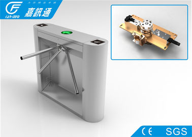 China Mechanical Tripod Barrier Gate , High Stablility Security Waist Height Turnstile supplier