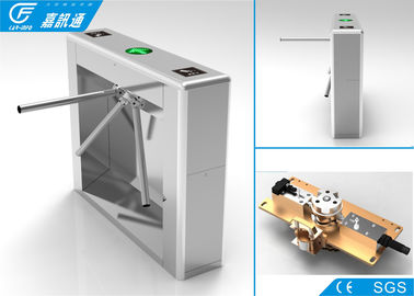 China 304 Stainless Steel Vertical Tripod Turnstile Channel Width 550 Mm Anti - Reverse supplier