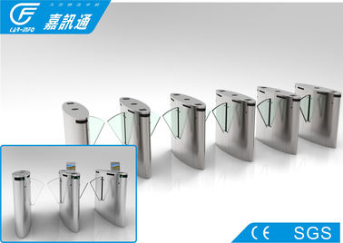 China Acrylic Glass Retractable Barrier Gate , Stadium Turnstile Gate With Card Reader supplier