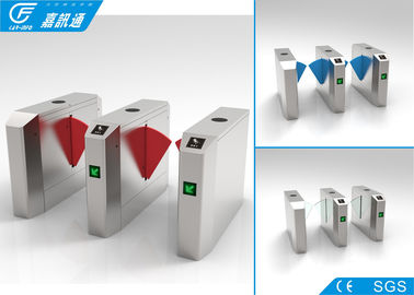 China Fast speed flap barrier gate pedestrian optical turnstile supplier