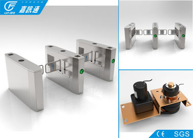 China Waist High Swing Gate Turnstile 304 Stainless Steel Bidirectional Direction supplier