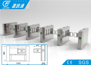 China Semi - Auto Access Control Turnstile Gate , Railway Station Vertical Swing Barrier Gate supplier