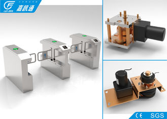 China Speed Swing Barrier Turnstile Barrier Gate , Pedestrian Turnstile Gate DC Motor supplier