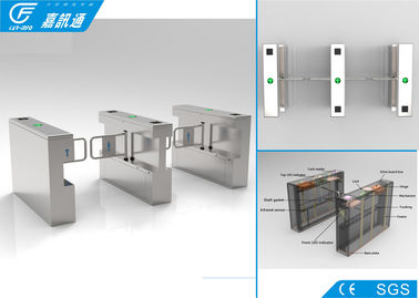 China 304 Stainless Steel Swing Gate Turnstile 25 Persons / Min With RFID Card System supplier