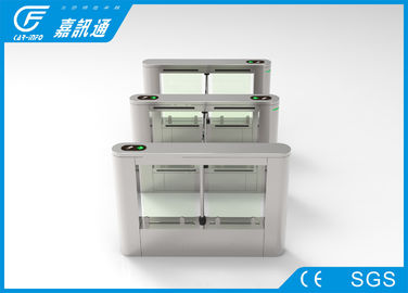 China Indoor Office Turnstile Access Control 40 Persons / Min , Rfid Card Turnstile Barrier Gate supplier