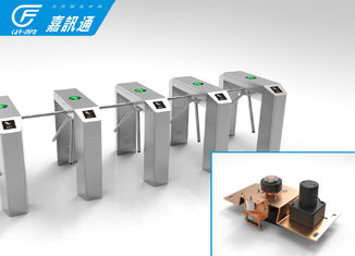 China ID Reader Vertical Tripod Turnstile Optional Passage Width 600mm 35 Persons / Min supplier