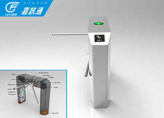 China Gym Entrnace Vertical Tripod Turnstile Security Access Control With Card Reader supplier