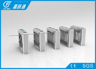 China Library Drop Arm Turnstiles Long Service Life , Museum Half Height Turnstile High Stablility supplier