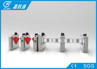 China Card Reader Mechanical Turnstile , Two - Way Pedestrian Turnstile Gate Systems supplier