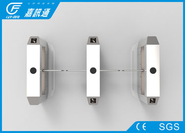 China Turnstile Security Systems Bi - Directional , Rfid Reader Rotating Security Gates supplier