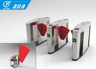 China Smart speed wing gate  Pedestrian Control Electronic Flap Barrier Gate with glass flap supplier