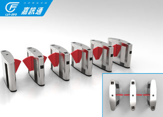 China Bank Hall Office Security Gates , Apartment React Quickly Speed Gate Turnstile supplier