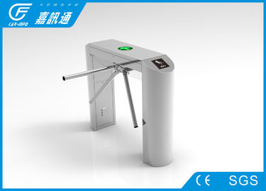 China Staff Entrance Arm Stainless Steel Turnstiles Remote Light Indicators Smooth Rotation supplier